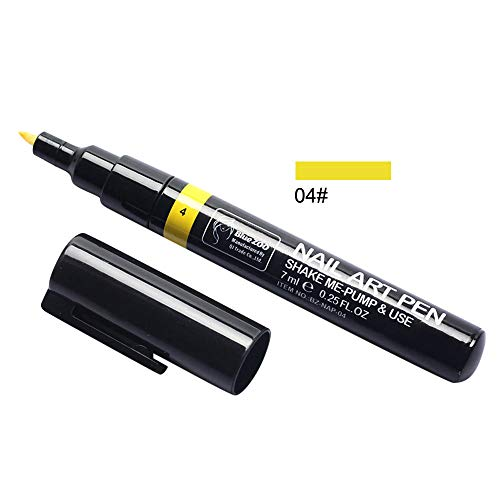 Newkelly Nail Gel Painting Varnish Pen 3 In 1 Step One Step Easy To Use UV Gel (Coat Light Brightener Color)
