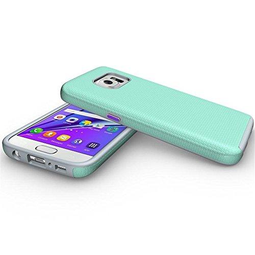 Para Samsung Galaxy S7 Funda Carcasa,Ultra Delgada Armor Híbrido de Capa Cubierta a Prueba de Golpes Defender Case Protectora para Galaxy s7 -Púrpura Verde
