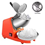 VIVOHOME Electric Ice Crusher Shaver Snow Cone Maker Machine for Home and Commerical Use