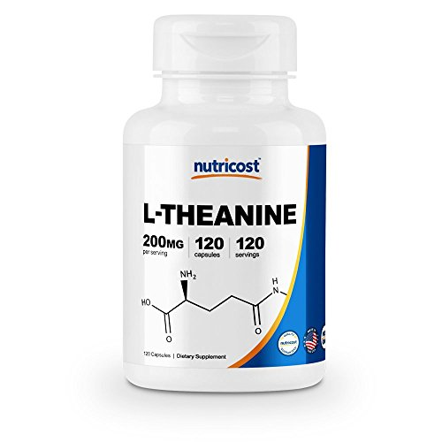 Nutricost L-Theanine 200mg, 120 Capsules - Double Strength by Nutricost