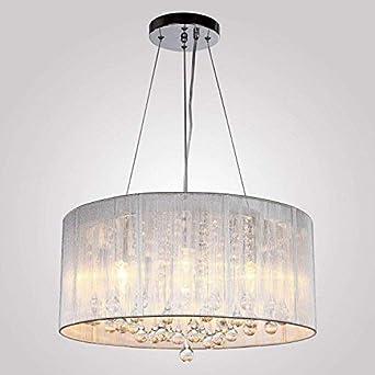 Maxmer 40W Kristall Pendelleuchte Hängend Deckenleuchte Luxuriöse Moderne  Hängelampe Kristallkronleuchter 4* E14 für Wohnzimmer, Esszimmer, ...