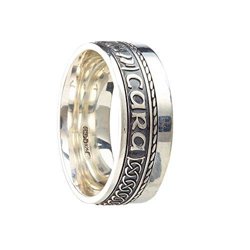 Unisex Oxidized Sterling Silver Mo Anam Cara Siorai II Ring