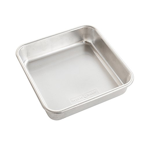 Nordic Ware 47500 Naturals Aluminum Commercial 8 x 8 Square Cake Pan, Silver
