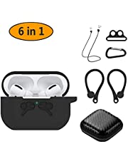 Hianjoo Case Compatible with AirPods Pro, Shockproof Protective Accessories Cover 6-in-1 Soft Case Compatible for AirPods Pro Charging Case