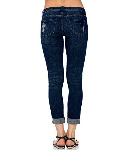 Cantieri In M colore Il Jeans Grandi Mena Lavano Pantaloni Che Di Uk Blu Nove Scuro Vita Foro Dimensioni Donne pfxq8Iw