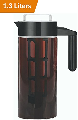 1.3L Cold Brew Coffee Maker - Brewed Iced Coffee Makers - Goggles Pitcher Infuser Cold Brewer System Set with Removable Filter