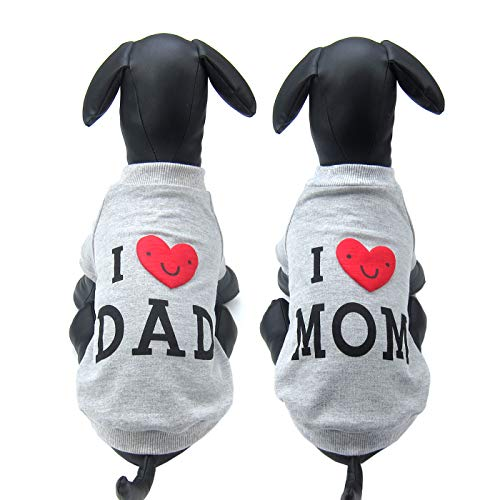 Alfie Pet - Kiran T-Shirt Daddy and Mommy Set - Color: Grey, Size: Large ()