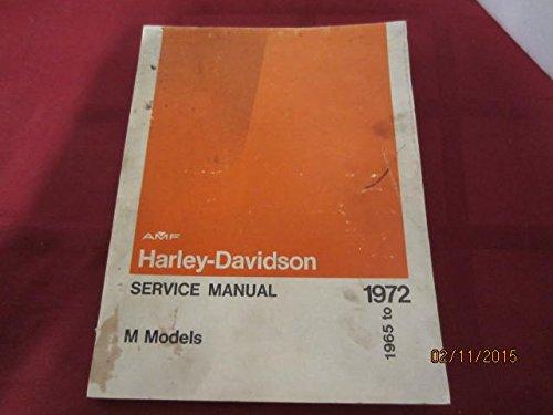 Harley-davidson Service Manual M Models 1965-1972