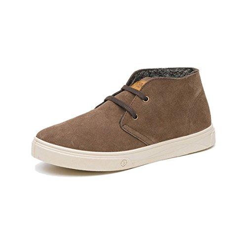 NATURAL WORLD-zapatillas deportivas para hombre, diseño de Safari Suede-últimos números 820-830-marron
