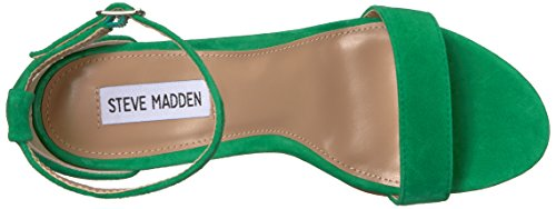 Steve Madden Carrson, Sandales pour Femme Green Suede