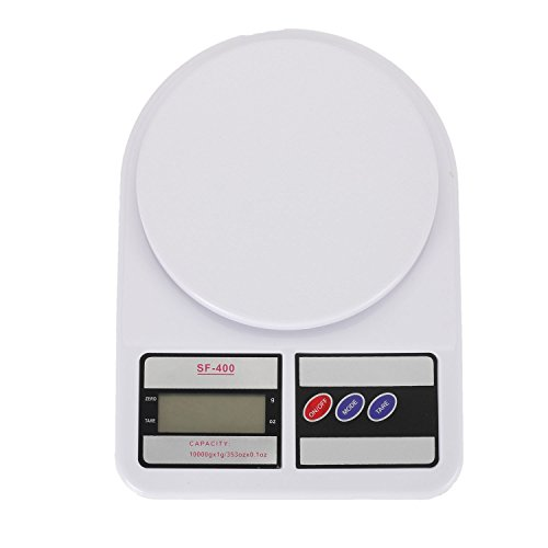 Merssavo High Precision LCD Display Digital Kitchen Electronic Scale White by Merssavo