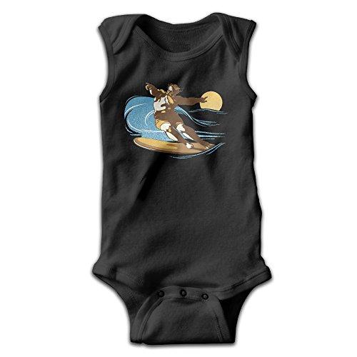 [BLUESPACE God Surfed Baby Girls Boys Climb Romper 12 Months Black] (Racer Girl Romper Costumes)
