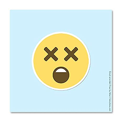 Amazon com dizzy dead face smiley emoji vinyl decal sticker 3 75 x 3 75 automotive