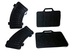 (2) FREEZE! Handgun Shaped and (2) AK47 Bullet Ice Cube Trays (Red OR Black)