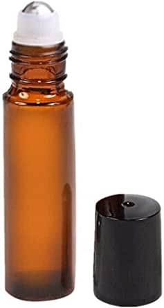 Spray Containers Essential Oils Roller Bottles Amber Glass Steel Roll on Ball