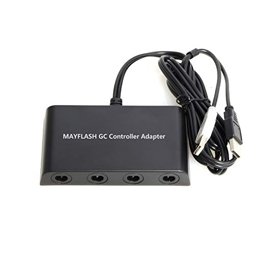 Mayflash GameCube Controller Adapter for Wii U, PC USB and Switch, 4 ()