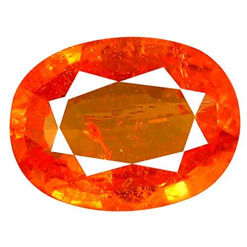 1.56 ct AAA+ Oval Shape (8 x 6 mm) Unheated/Untreated Fanta Orange Tanzanian Spessartine Garnet Natural Loose Gemstone