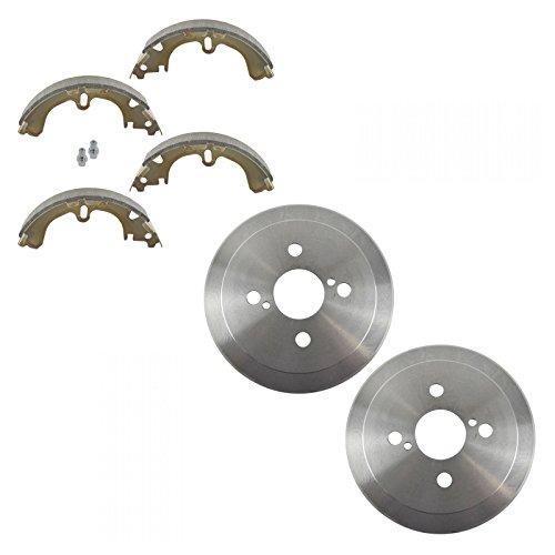 Geo Prizm Rear Brake - Rear Brake Drum & Shoe Pair Set for Toyota Corolla Chevy Prizm
