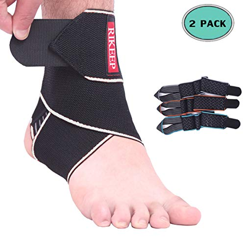 Ankle Support,1 Pair Adjustable Ankle Brace Compression Wrap Super Elastic and Comfortable,1 Size Fits All,Protects Against Chronic Ankle Strain, Sprains Fatigue,Gray