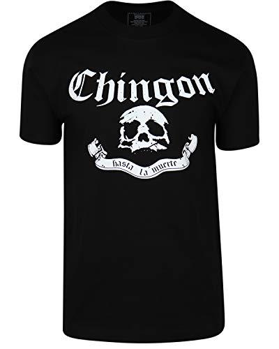 ShirtBANC Original Mexican American Inspired Mens Shirts (Chingon Black, XL)