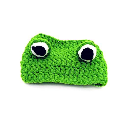 Luckycyc Handmade Woven Pet Hat Festive Party Hat Frog Styling Pet Hat Pet Cap