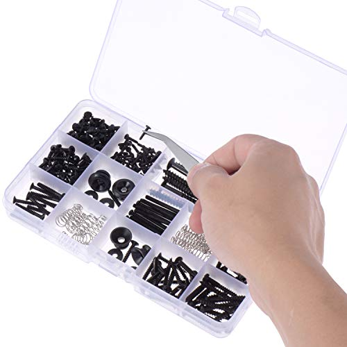 canomo 254 pieces electric guitar screw kit 9 types with springs for electric guitar bridge. Black Bedroom Furniture Sets. Home Design Ideas