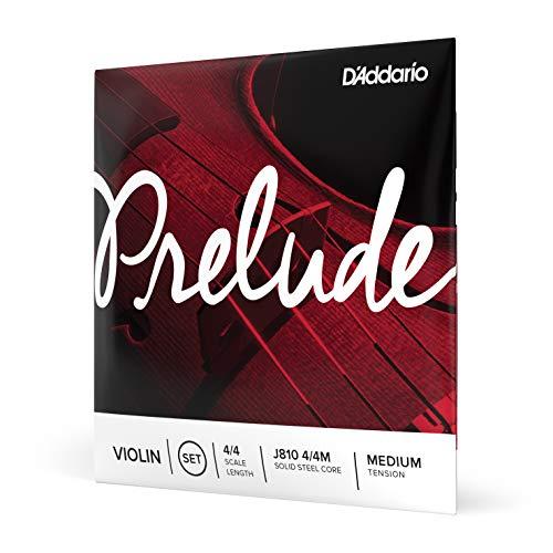 Cuerdas para violín D'Addario Prelude, escala 4/4 tension M.