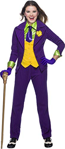 Charades DC Comics Joker Women's Costume, As Shown, Large -