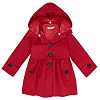 Arshiner Girl Baby Kid Hooded Coat Jacket Outwear Raincoat