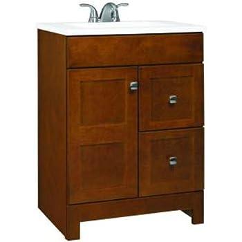 Foremost Nata2421d Naples 24 Inch Width X 21 Inch Depth Vanity Tobacco Bathroom Vanities