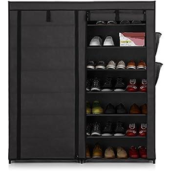 Amazon.com: Grey 7-Tier Shoe Rack 42-Pair Portable Shoe Storage ...