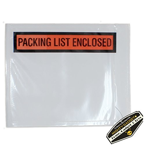 """500 Pack of Mighty Gadget (R) Light Weight Side Loading Packing List Envelopes - 4.5"""" x 5.5"""" by Mighty Gadget"""