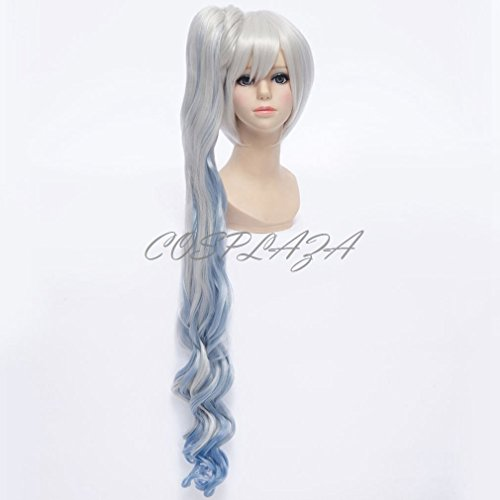 COSPLAZA Cosplay Wig Yellow Long Wavy Halloween Synthetic Anime Hair