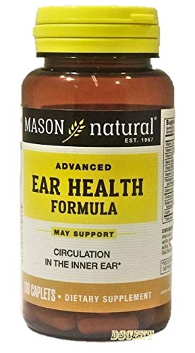Mason Natural Vitamin Advance Ear Health Formula Caplets, 100-Count Bottle