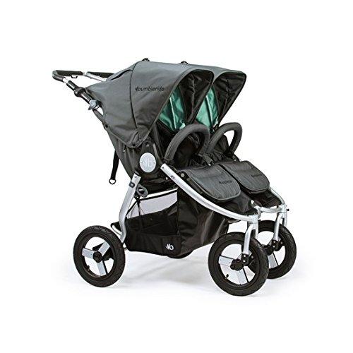 - Bumbleride Indie Twin Double Stroller - Dawn Grey Mint