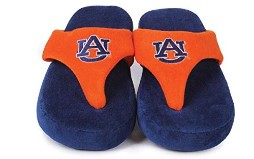 NCAA College Comfy Flop - OFFICIALLY LICENSED - Happy Feet Mens and Womens Auburn Tigers nxa4oOOFoU