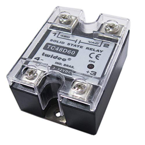 Twidec/Output Single Phase SSR Solid State Relay 60A 3-32V DC to 24-480V AC SSR-60DA (3 Phase Solid State Relay 60 Amp)