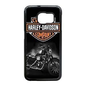 Harley-D V M8D6Xy Funda Samsung Galaxy S6 Edge caja del teléfono celular Funda Negro H0G5WR teléfono celular Funda Caso único para chicos