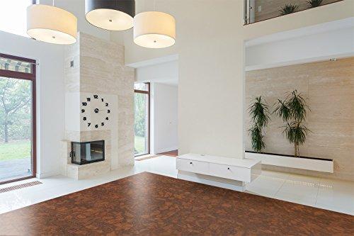 Bevel Edge Cork Flooring Narrow Planks SUNNY RIPPLE 13.44sq.ft/ box