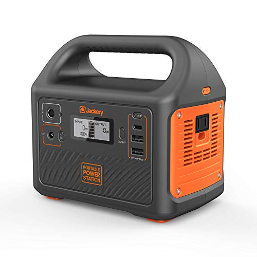 Jackery Portable Power Station Explorer 160, Solar Generator Lithium Power Supply 167Wh 46400mah 150W Max with 110V/100W AC Inverter, USB-C, USB-A ports, DC 12V port for Camping CPAP Fishing Emergency