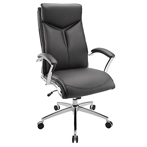 Realspace(R) Verismo Bonded Leather High-Back Chair, ()