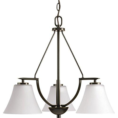 White Antique Lighting - Progress Lighting P4621-20W Contemporary/Soft 3-100W Med Chandelier, 95