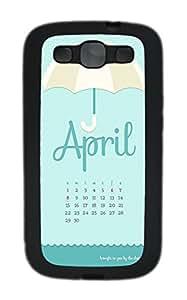 Samsung S3 Case Calendar TPU Custom Samsung S3 Case Cover Black
