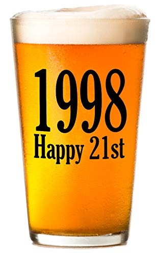 1998 - Happy 21st Birthday (Twenty One, 21) - Beer Glass
