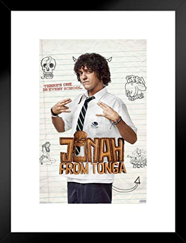 Pyramid America Jonah from Tonga TV Show Matted Framed Poster 26x20 inch