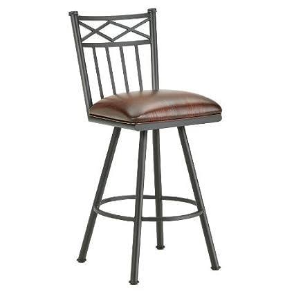 Incredible Amazon Com Iron Mountain Alexander Swivel Counter Stool Short Links Chair Design For Home Short Linksinfo