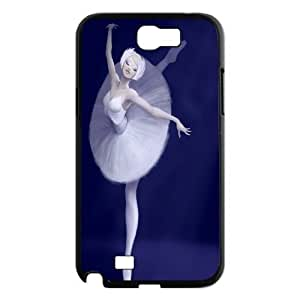 Unique Design -ZE-MIN PHONE CASE- For Samsung Galaxy Note 2 Case -Swan and Ballet-CUSTOM-DESIGH 18
