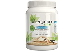 Vegansmart Plant Based Vegan Protein Powder by Naturade, All-In-One Nutritional Shake – Vanilla 22.75 oz