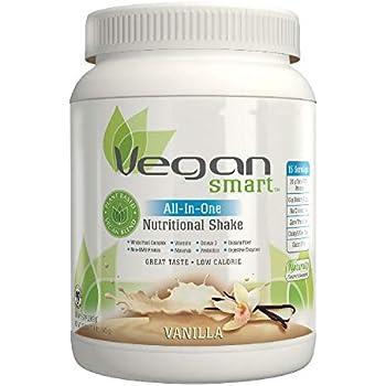 Vegansmart Plant Based Vegan Protein Powder by Naturade, All-In-One Nutritional Shake - Vanilla 22.75 Ounce