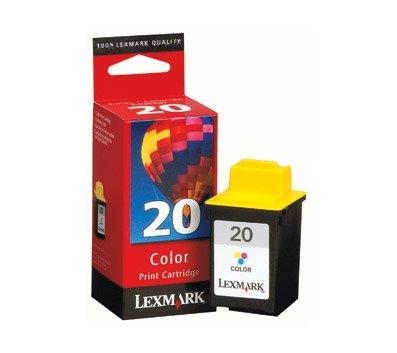 Lexmark 20 (15M0120) Color OEM Genuine Inkjet/Ink Cartridge (275 Yield) - Retail (Inkjet 15m0120 Color Lexmark)
